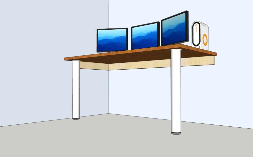 Furniture design bridgetown artisan design for Wall mounted desks ikea